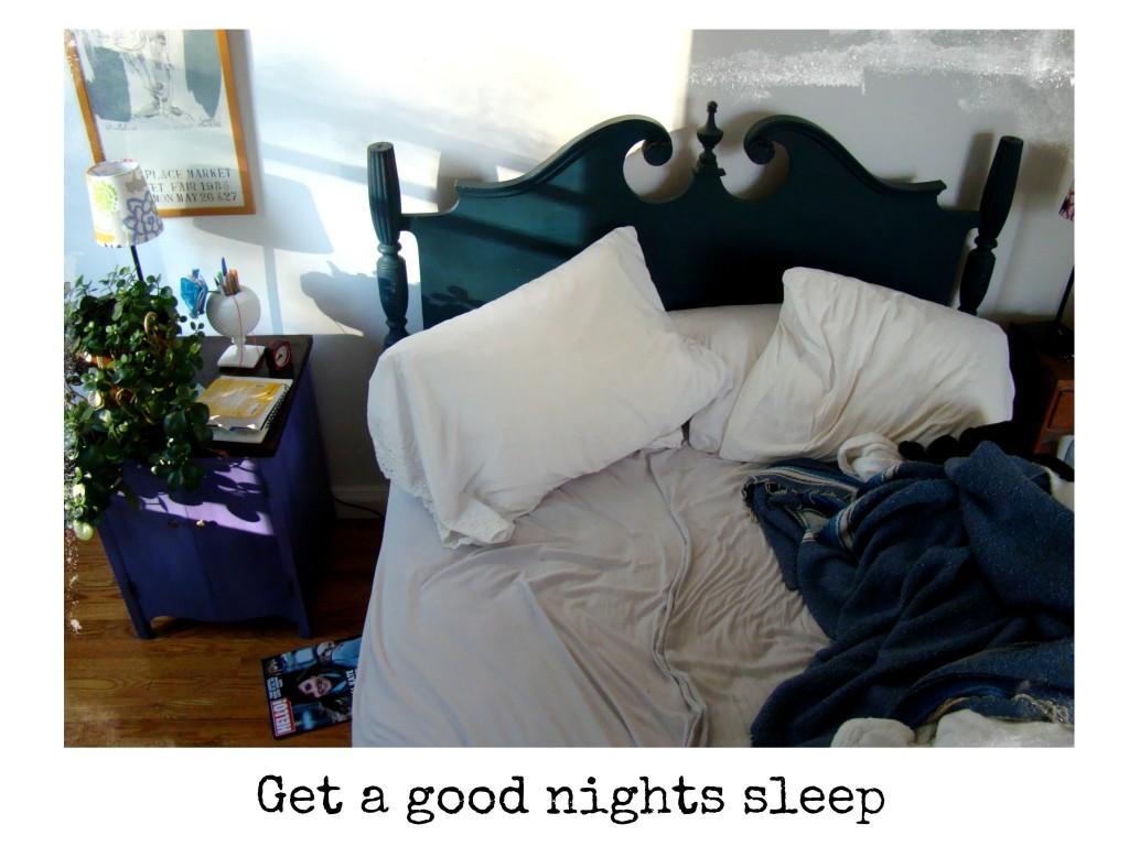 Get a good nights sleep DSC02079